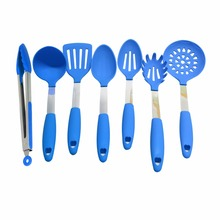 High Quality Color Silicone Kitchenware 7 Piece Kitchen Utensil Set