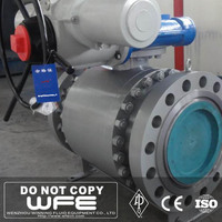 Forged Steel Trunnion Mounted Motorized Actuator Ball Valve