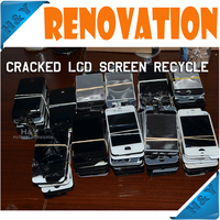 High price buying and recycle mobile phone lcd broken cracked touch screen repair for iphone for samsung