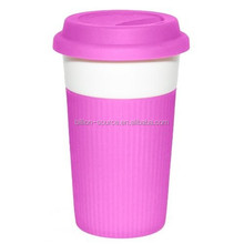 Customized Colorful Heatproof Silicone Rubber Cup Sleeve / Cup Holder