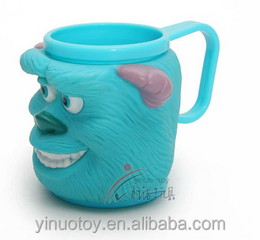 Hot Selling Souvenir custom multi-colored 3D cartoon style EN71 PVC tea coffee mug