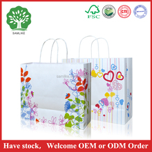 HOT SALES Recyclable Luxury Style Printed Shopping Paper Bag with Custom Logo