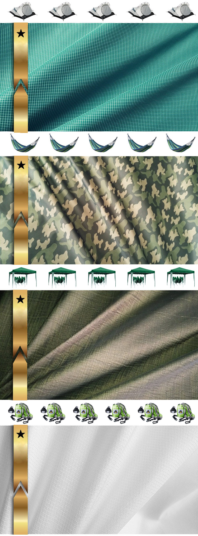 Shanghai Lesen Textile 100% nylon Water repellent fabric