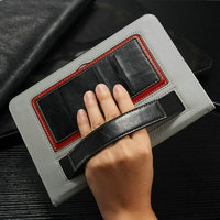 For iPad 6 PU Leather Stand Case, Leather Tablet Case For Apple iPad 6/Air 2 Case