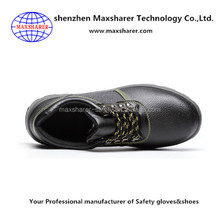 Maxsharer shoes men genuine leather new shoes safety