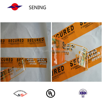 High Quality total transfer tamper evident security void tape.