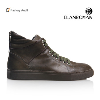 Fashion genuine leather top quality men's sneakers shoes