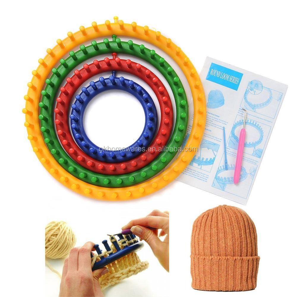 1 Set 4 Sizes Round Circle Hat Knitter Knitting Knit Loom Craft Kit New