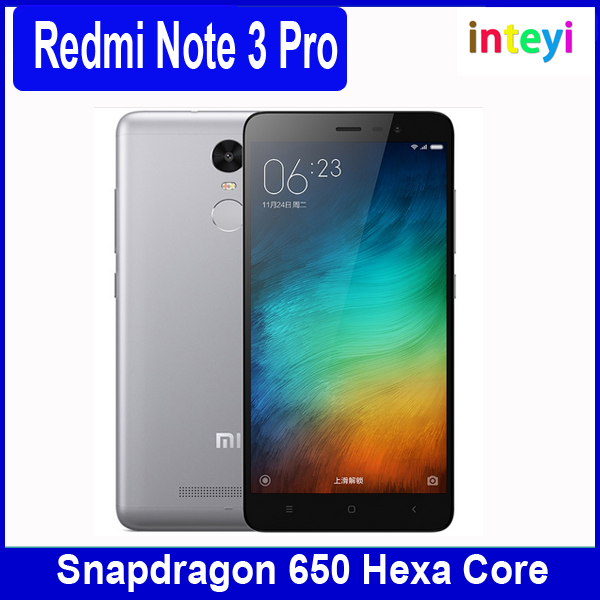 "Original Xiaomi Redmi Note 3 Pro 5.5"" Mobile Phone 1920x1080 16MP 4G LTE Metal Body Fingerprint Snapdragon 650 Hexa Core"