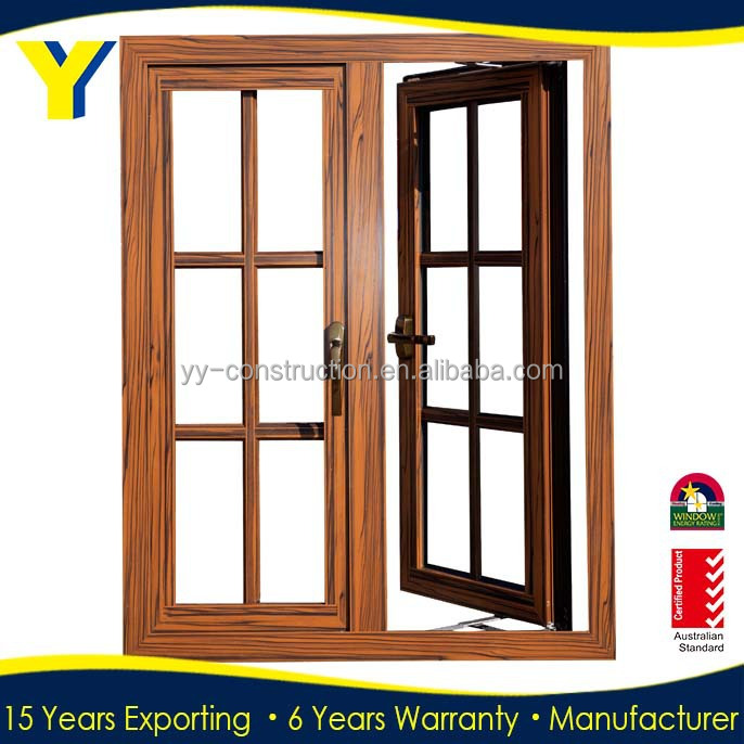 YY construction Australia standard AS2047 thermal break double glazed import aluminium casement window