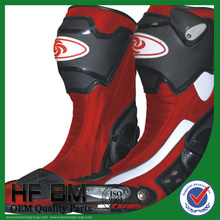 hot sales popular China supplier manufacture,mens leather motorcycle riding boots (Black,white,red)