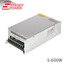 Factory outlet switch model 110V/220V AC to DC 12V 15V 24V 48V 600W switching power supply 25A S-600 W