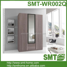2016 popular melamine MDF bedroom mirror laminate wooden wardrobe