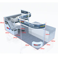Detian Display offer two level stand exhibition equipment service for trade show