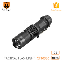 Most High Power Style Aluminum alloy Zoom Rechargeable t6061 aluminum led zoom flashlight