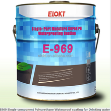 E-969 Single-part Polyurethane Waterproofing Coating for Drinking Water, bathroom