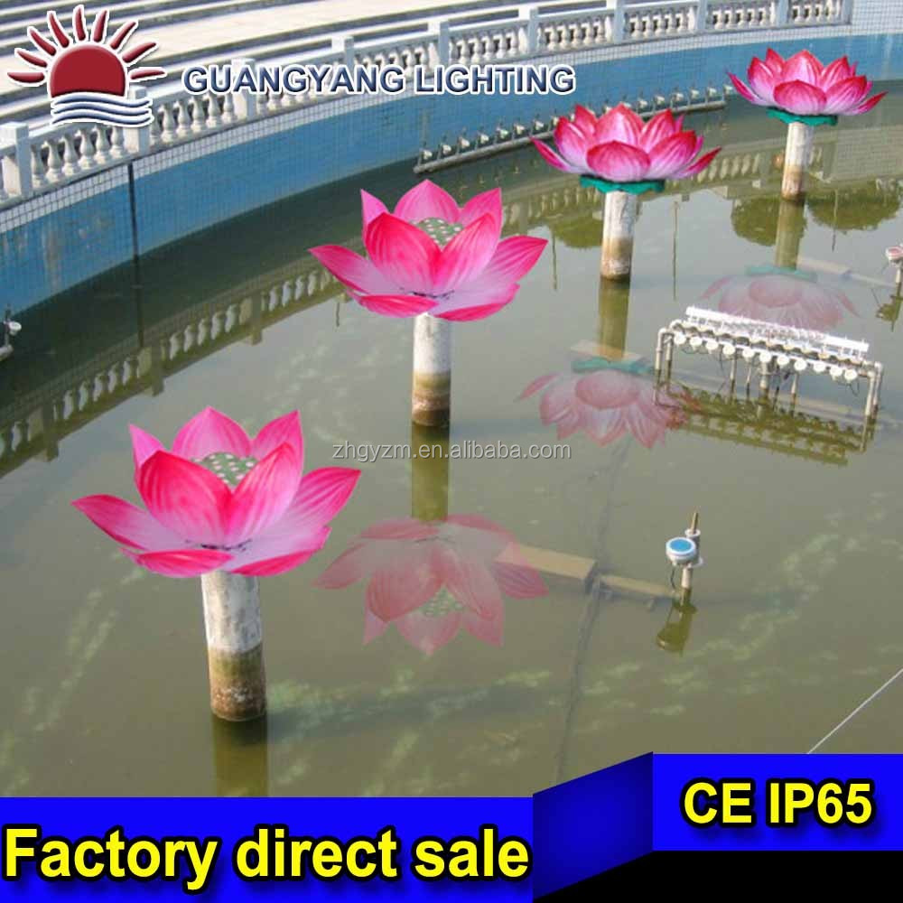 pink water-proof lotus flower floating pool flower modern water-lily