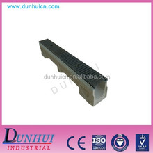 Stainless Steel Grating Resin Edge Trench Cover For Water Concrete Drainage Channel