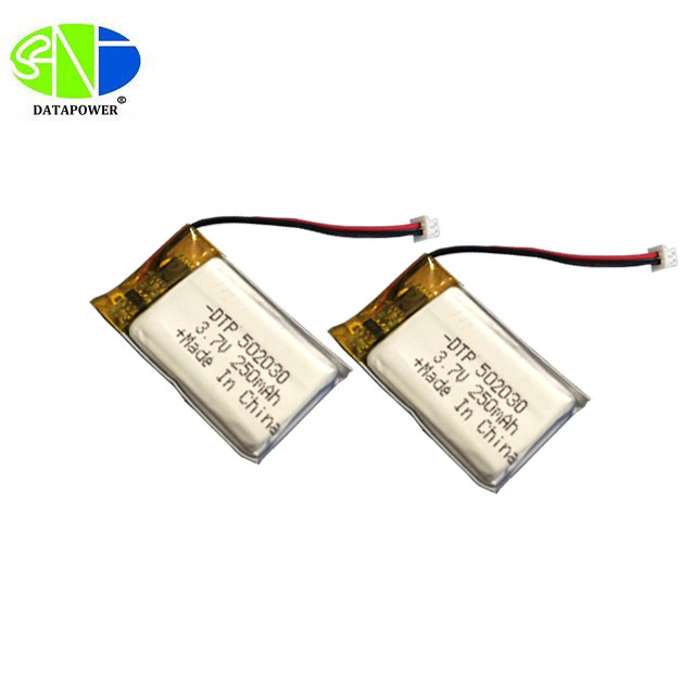 Long cycle lithium ion polymer battery 3.7v 250mah DTP502030 with IEC62133