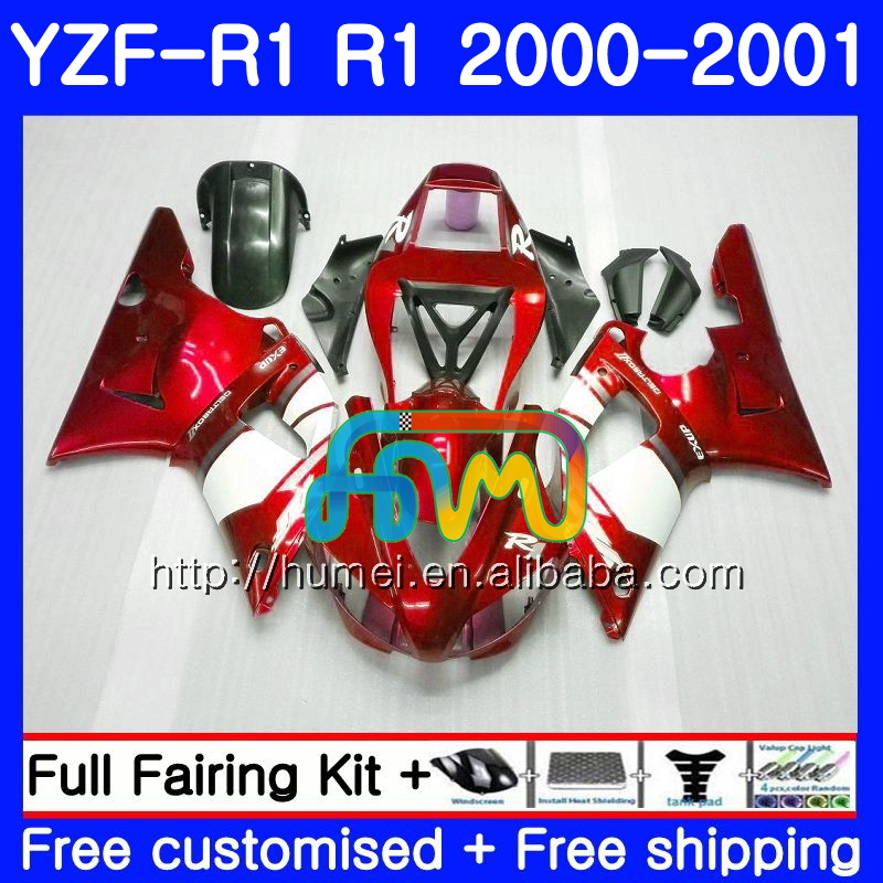 Bodywork For YAMAHA YZF 1000 red white YZF-<strong>R1</strong> 2000 2001 Body 98HM37 YZF1000 YZF R 1 YZFR1 <strong>00</strong> <strong>01</strong> YZF-1000 YZF <strong>R1</strong> <strong>00</strong> <strong>01</strong> Fairing