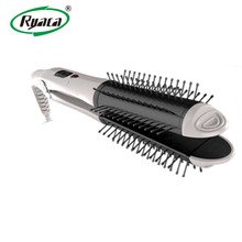 Professional 3 in 1 hot heat hair straightening comb with 55W electric hair straightening brush