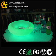 Color chaning modern design plastic led glowing tray