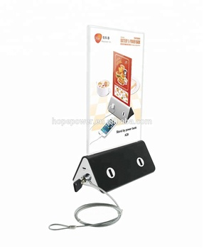 advertising menu mobile power bank 2018  trending product  charging station for restaurant