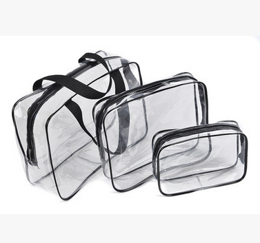 Transparent PVC waterproof toiletry bag for <strong>travel</strong>