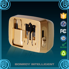 Bonroy first class universal 5V 2.1A international usb travel electrical adapter