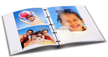 Wholesale diy inkjet photo album with trasparent cover