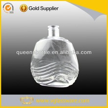 500ml flat shape glass xo cognac brandy