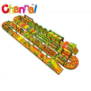 Longest Jungle the beast inflatable obstacle course for Adults and Kids