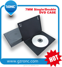 Hot selling 14mm black rectangle single Double CD DVD Case