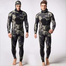 Diving Suit wetsuit swimming suit Two-piece Full Body Long Sleeve Diving Suit wetsuit hanger