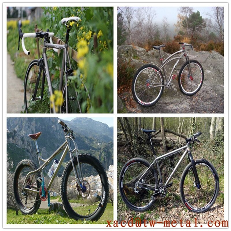 Titanium Mountain bicycle frame with breeze dropouts Customized titanium MTB bike frame  Ti bike frame with high quality
