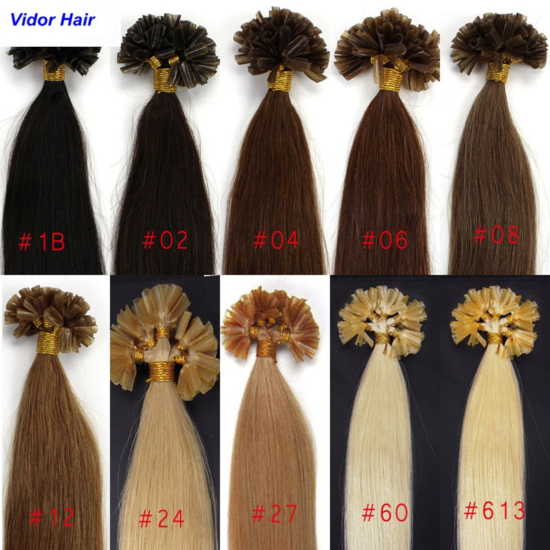 Factory Wholesale Remy Human Hair Pre-Bonding U-tip Hair Extensions