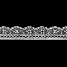 3.7cm single scalloped stretch bridal wristband lace trim,decorative lace trimming for evening dress