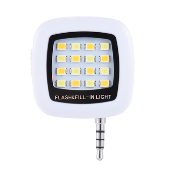 2017 Best Selling Mobile Phone Camera External Flash 16 LED Fill Light Night Using Selfie Enhancing Flash Light For IPhone 8