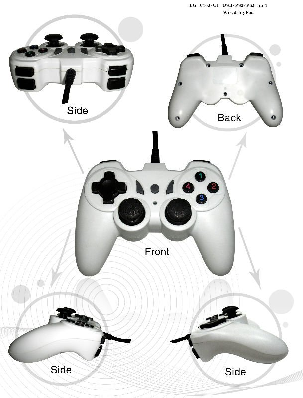 new launched! 3 in 1 joypad,compatible with PC&PSx
