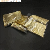 300 Piece Gold Plastic Silverware Disposable Set