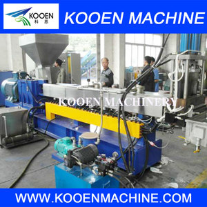 PE plastic filler masterbatch raw materials making machine / Extruder Machine Plastic Recycling