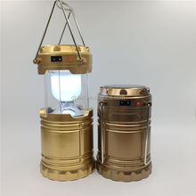 Solar led rechargeable camping lantern lamp G85 portable plastic lantern