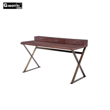 Contemporary wooden top office writing desk with drawer