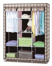 New design Canvas Wardrobe\Useful Clothes Storage Cabinet Wardrobe\ House Easy Taking Wardrobe