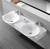 undermounted basin sink bathroom sinks with two faucets