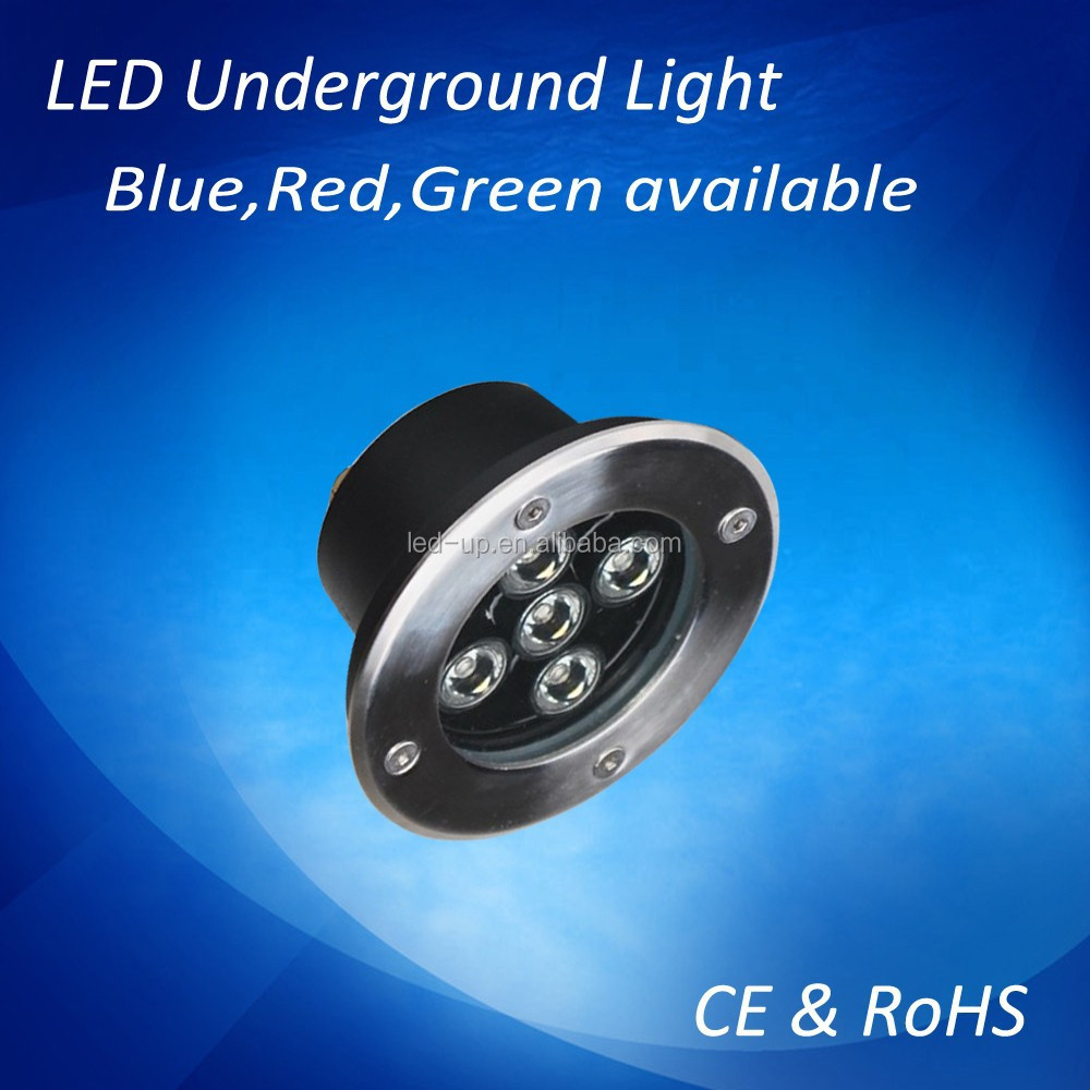 5W Waterproof led underground lightings led outdoor lights,blue,red,green available