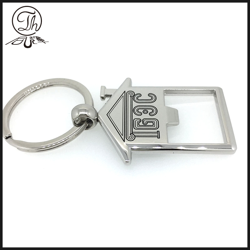 Fashionable Zinc Alloy Souvenir Or Promotion Custom Bottle Opener Key Chain