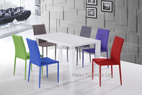 Modern wood white high glossy painting dining table