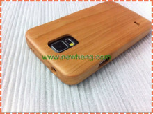 for samsung galaxy s5 Wood+Silicone Cover Case