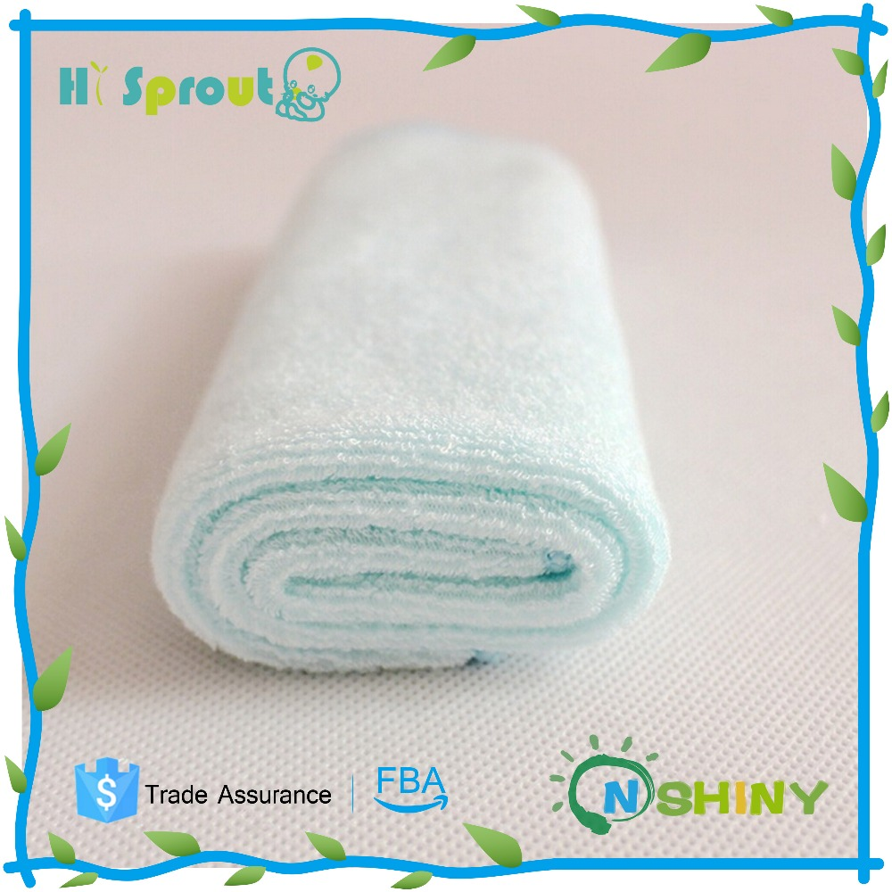 Bamboo cotton velour baby cloth wipes baby washcloth